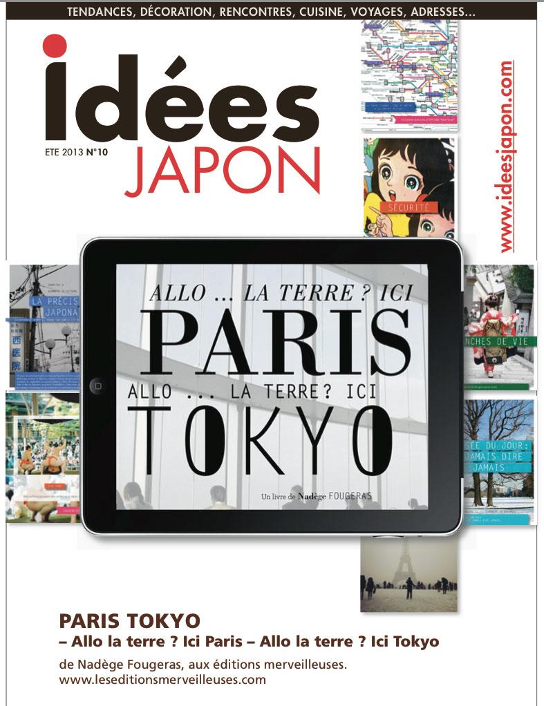 paris tokyo allo la terre couverture du magazine idees japon