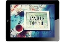 PARIS TOKYO,  deux livres dans une appli